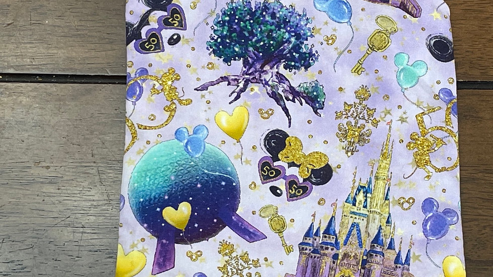 """(PREORDER ONLY) WDW 50th Anniversary Zipper Pouches (6.5""""x6.5"""")"""