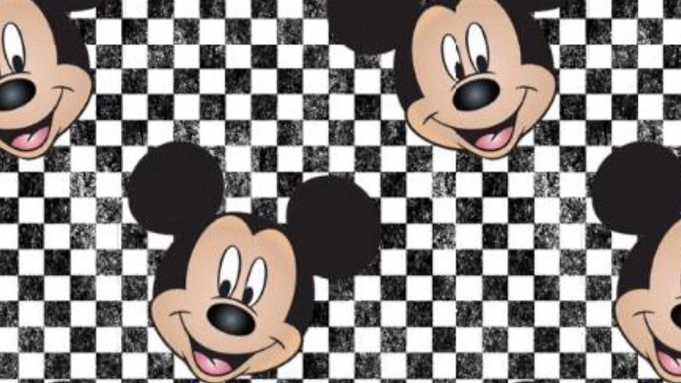 (PREORDER ONLY) Mickey Mouse Checkered Mask