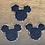 "Thumbnail: Black Mickey Glitter Varsity Patch 2"""
