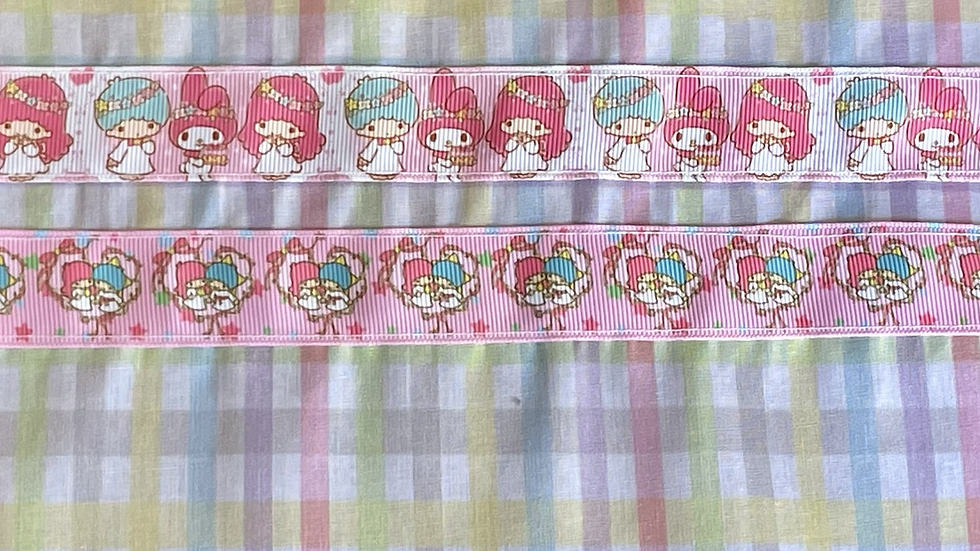 "Rainbow Gingham Twin Stars Custom Zipper Pouch (8.5""x7.5"")"