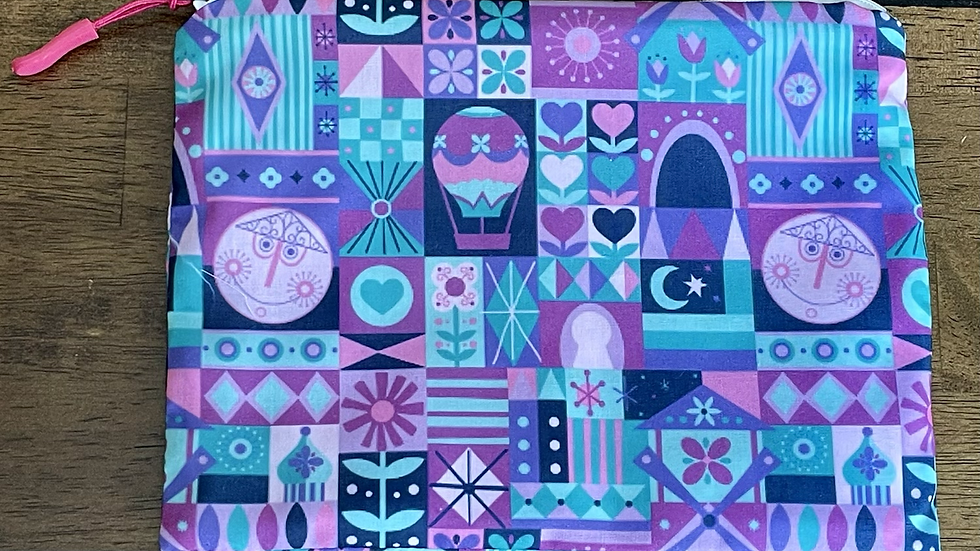 """It's a Small World (purp./pink) (8.5""""x6.5"""")"""