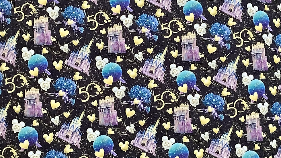 (PREORDER ONLY) WDW 50th Anniversary Castle
