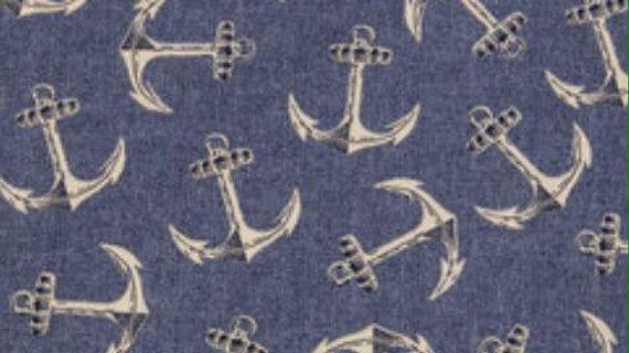 Navy Blue Anchors