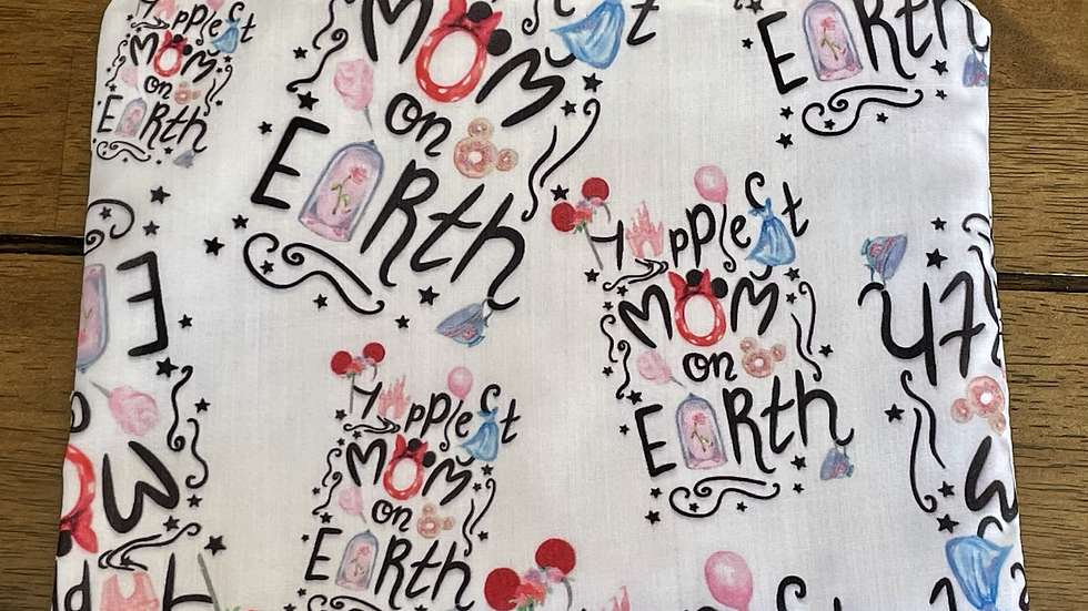 """Happiest Mom on Earth Zipper Pouch (8.5""""x6.5"""")"""