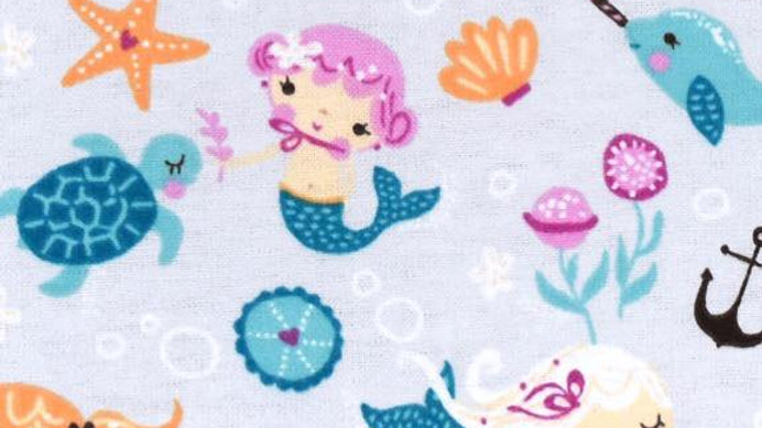 Cartoon Mermaids (Flannel)