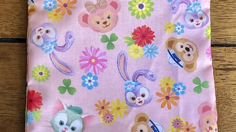 "Duffy Springtime Zipper Pouch  (6.5""x6.5"")"