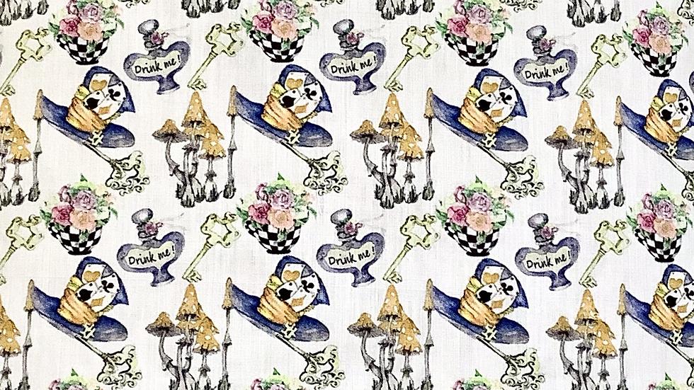 """Alice in Wonderland Zipper Pouch (8.5""""x7.5"""")"""