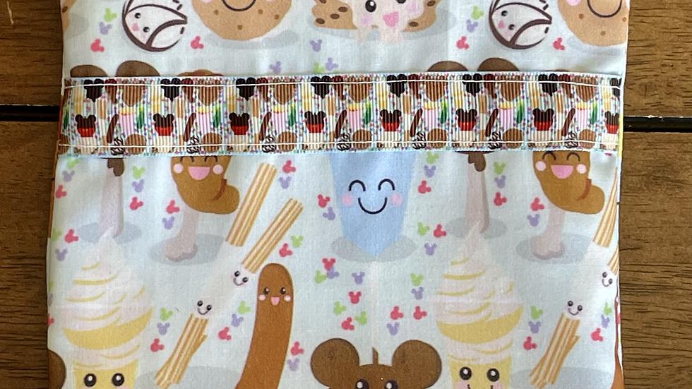 Disney Cartoon Foodies Zipper Pouch with Ribbon