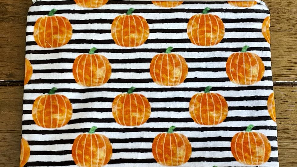 Pumpkin Stripe Zipper Pouch