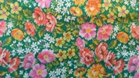 Vintage Green Floral