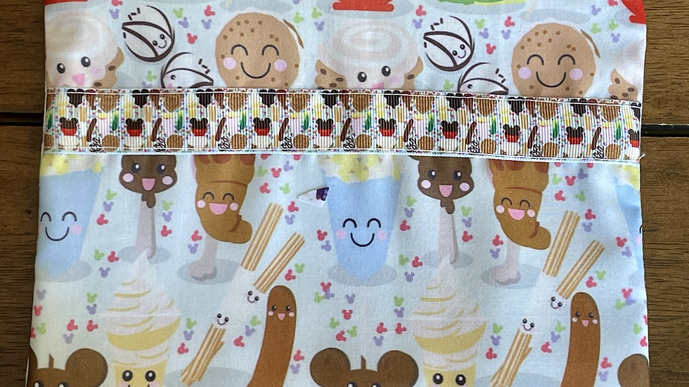 Disney Character Foodies with Ribbon Zipper Pouch