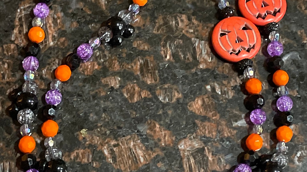 Halloween Pumpkin Mask Chain