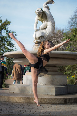 Dance portfolio shoot with musical theatre performer Melody Lee