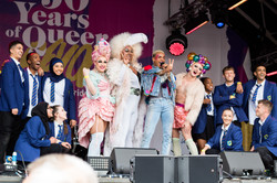 The cast of Everybody's Talking about Jamie at London Pride 2019