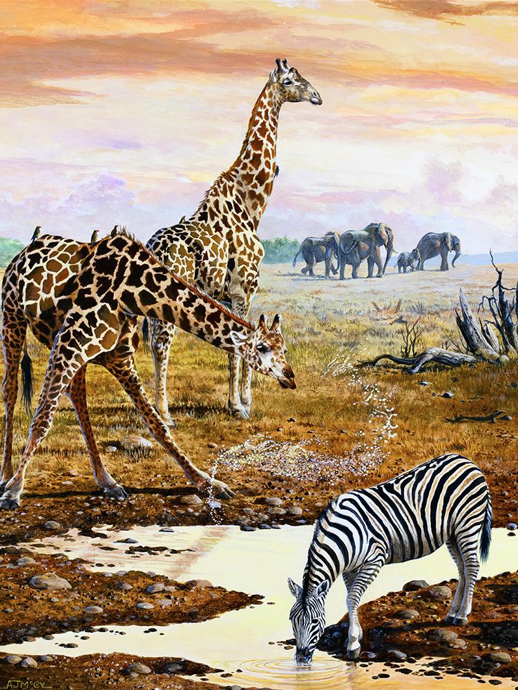 """Lip'n off"" Sunset S-Curve Giraffe"