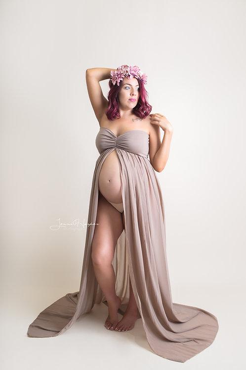 Taupe Sarah Gown