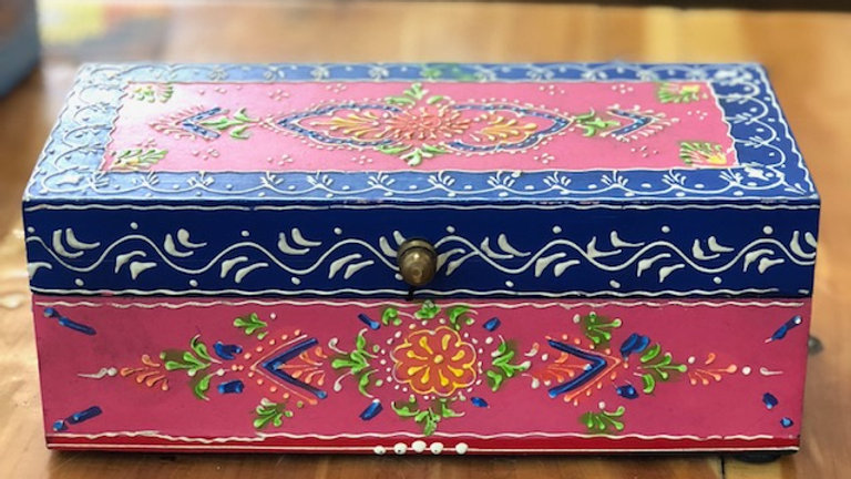 Small Hand Painted Jewelry/Stash Box