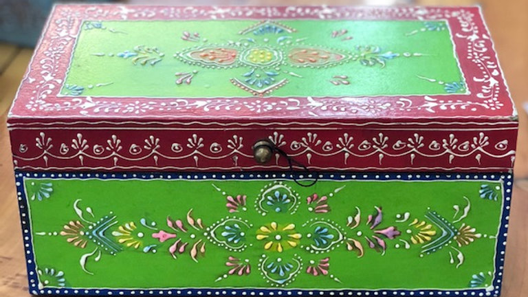 Hand Painted Jewelry/Stash Box Size Large