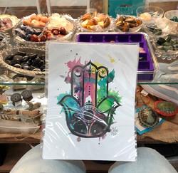 Hamsa Hand watercolor art print