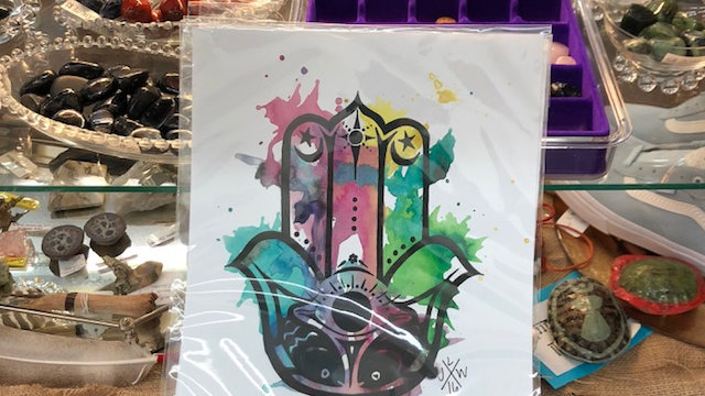 Hamsa Watercolor Print