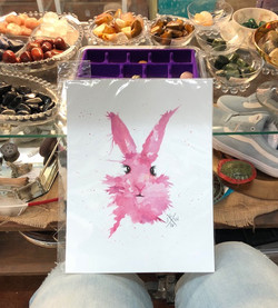 Pink Bunny Art Print