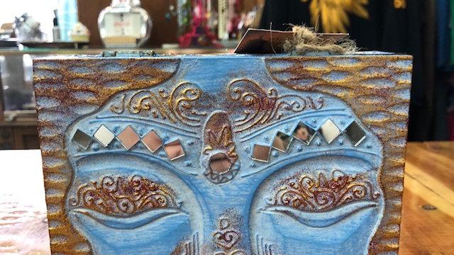 Wooden Face Jewelry/Trinket/Stash Box