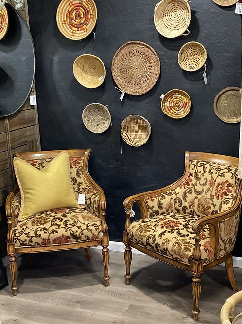 Set of 2 Spanish Sitting Chairs