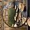 "Thumbnail: 36"" Round Mirror with Gold Frame"