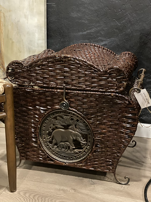 Dark Brown Elephant Basket/ Trunk