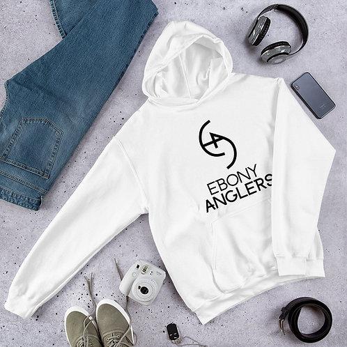 Ebony Anglers - White Unisex Hoodie