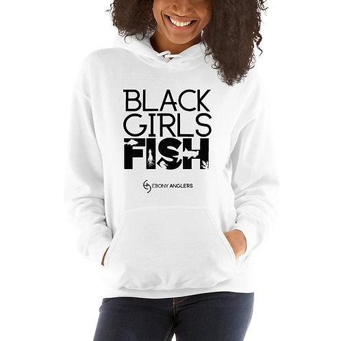 Black Girls Fish - White Unisex Hoodie