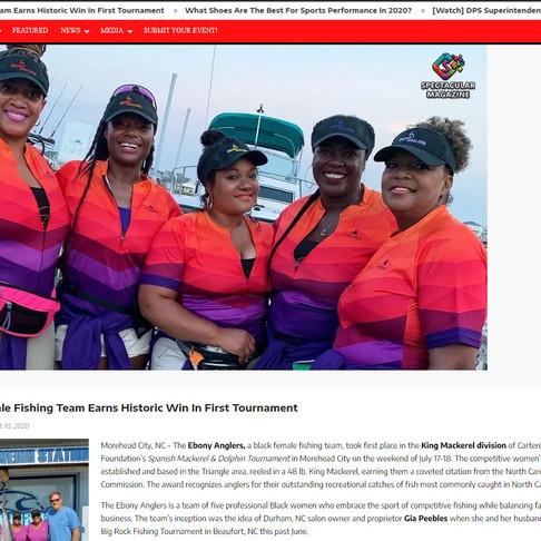 Spectacular Magazine Features Ebony Anglers