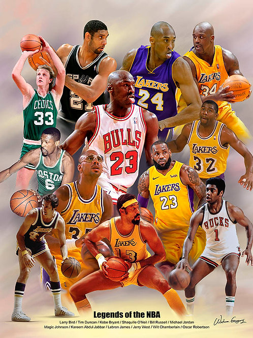 B-3119-2  Legends of the NBA