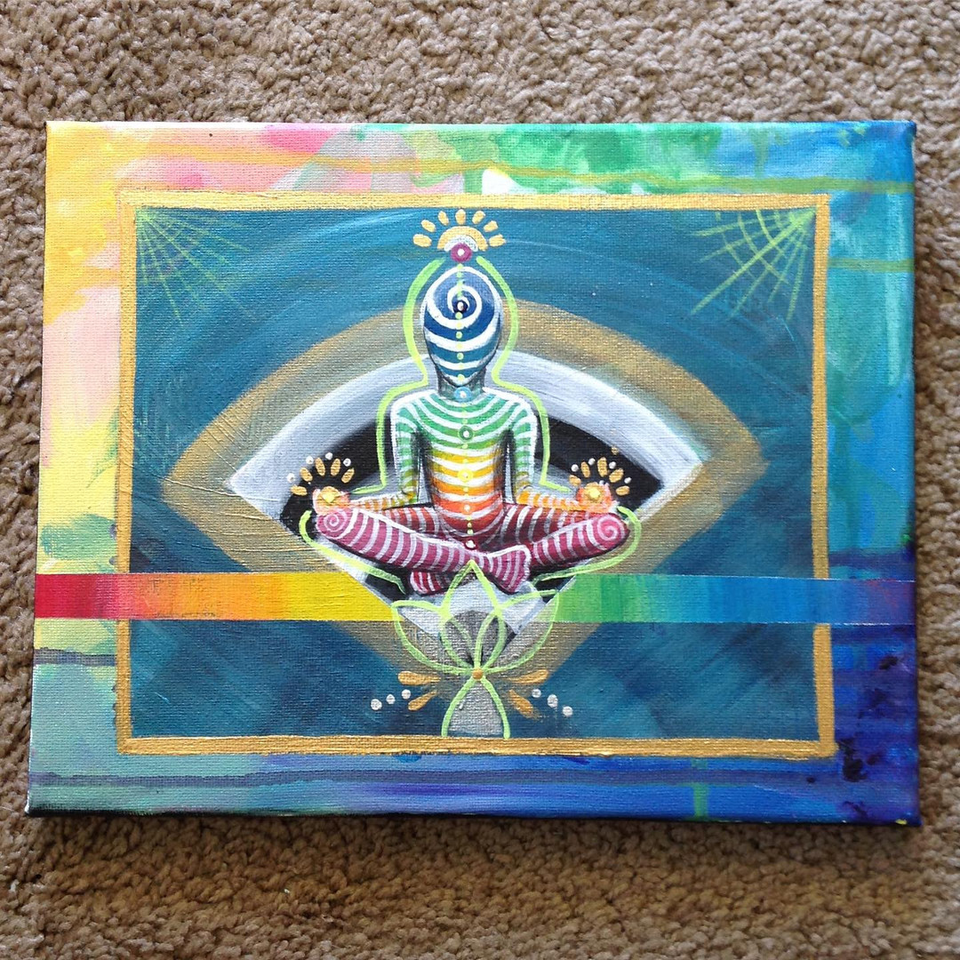 Rainbow Meditate and Striped