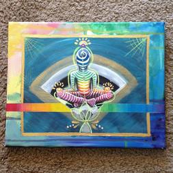 Rainbow Meditate and Striped