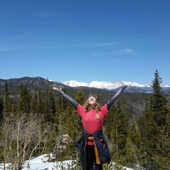 The sunshine in the Rocky National Park