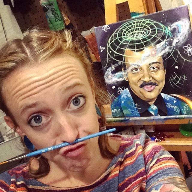 Throw back to _Star Teach_, a painting o
