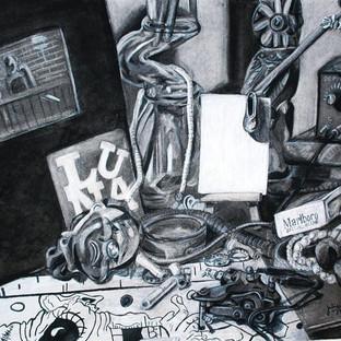 Vanitas Drawing Detail