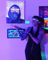 _Jeva Du_ blacklight art show at _harris