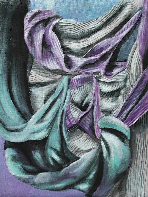 ORIGINAL Fabric Study Painting