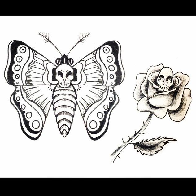 Cutsie skull tattoo designs. #micron #fu