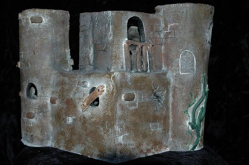 Castle, 2006__Clay, acrylic paint___ Par