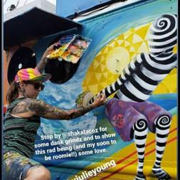Shaka Tacos Truck Mural
