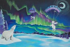 _Parachuting Polar Plunge_ acrylic 24_x3
