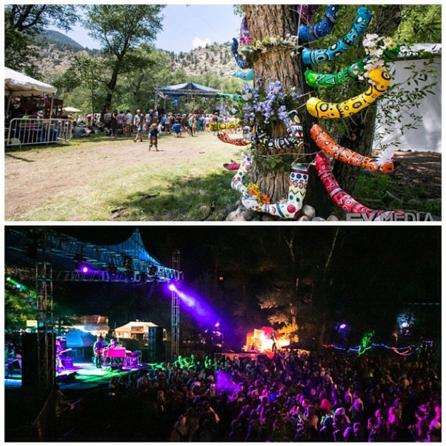 Day and night at the main stage at Groov