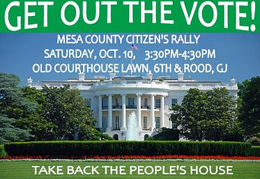 mesa county dems GOTV rally on 10 10 202