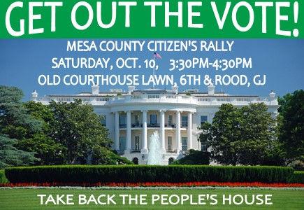 mesa county dems GOTV rally on 10 10 202