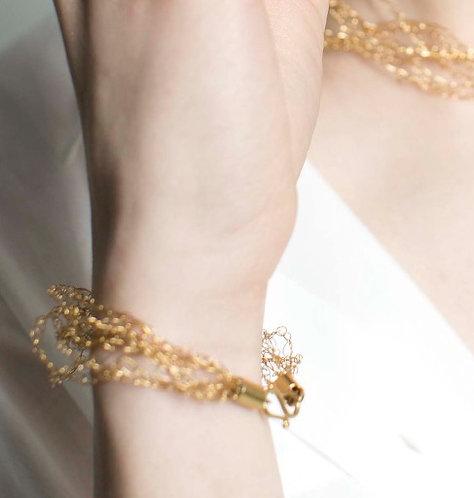 bracelet S gold plated