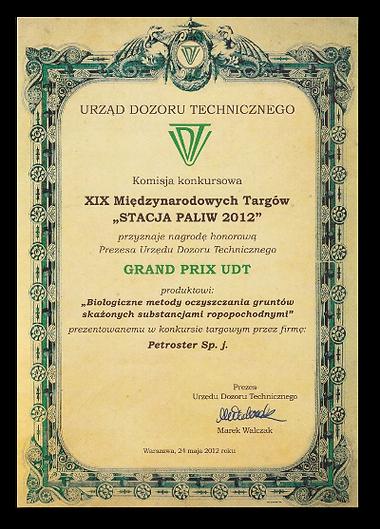 bioremediacja Grand Prix UDT PETROSTER.p
