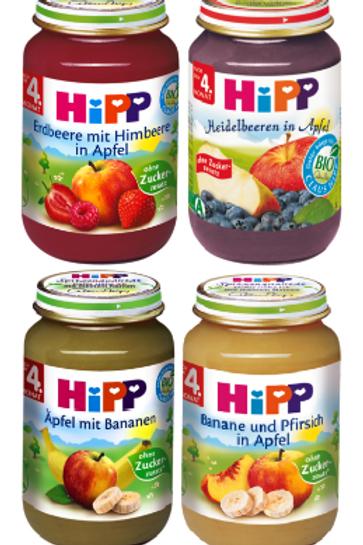 Hipp φρούτα βιολογικής καλλιέργειας από 4 μηνών 190gr